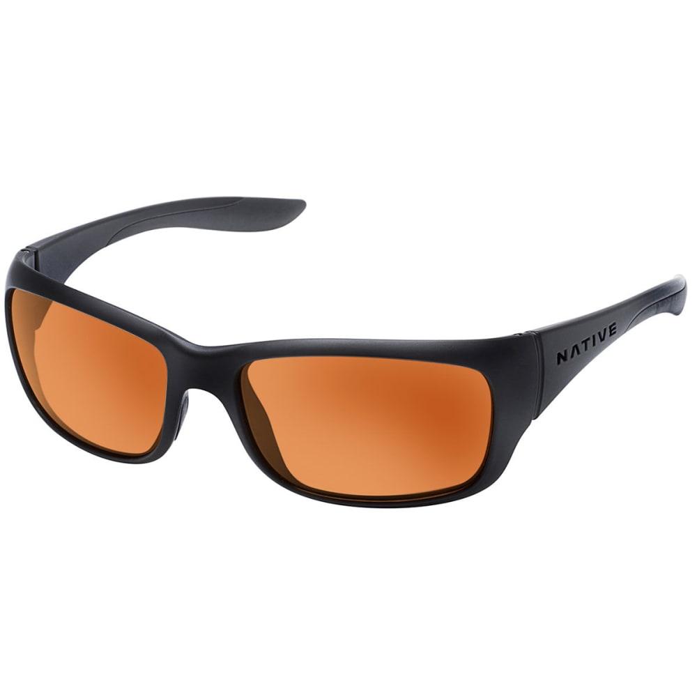 NATIVE EYEWEAR Kannah Sunglasses, Matte Black/Bronze - MATTE BLACK