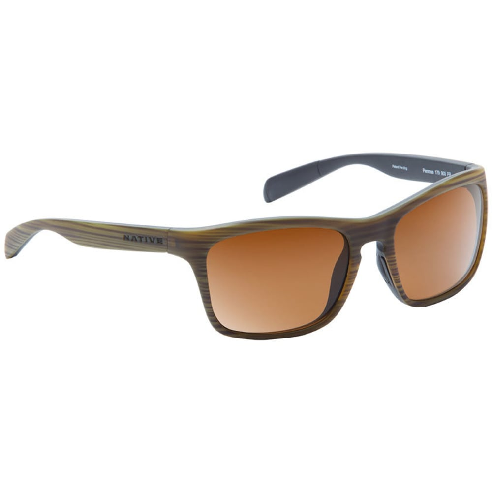 NATIVE EYEWEAR Penrose Sunglasses, Wood Black/Brown - Wood/Black