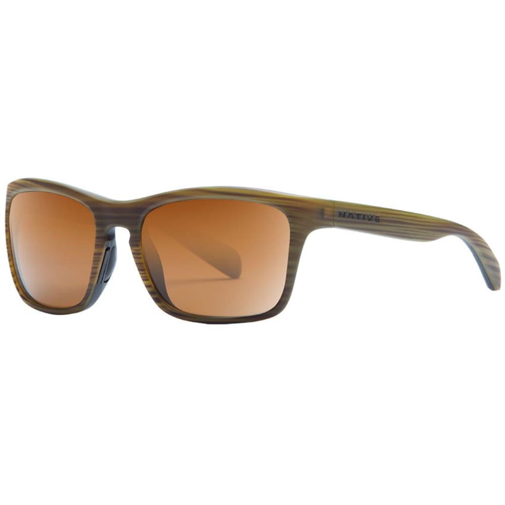 NATIVE EYEWEAR Penrose Sunglasses, Wood Black/Brown ONE SIZE