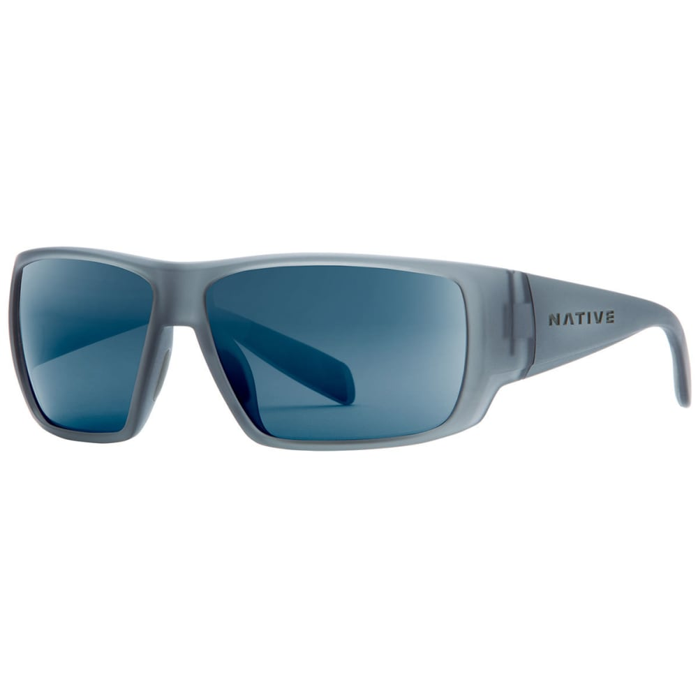 NATIVE EYEWEAR Sightcaster Sunglasses Matte Smoke Crystal, Blue Crystal ONE SIZE