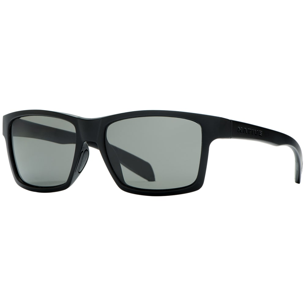 NATIVE EYEWEAR Flatirons Sunglasses, Matte Black/Gray - MATTE BLACK