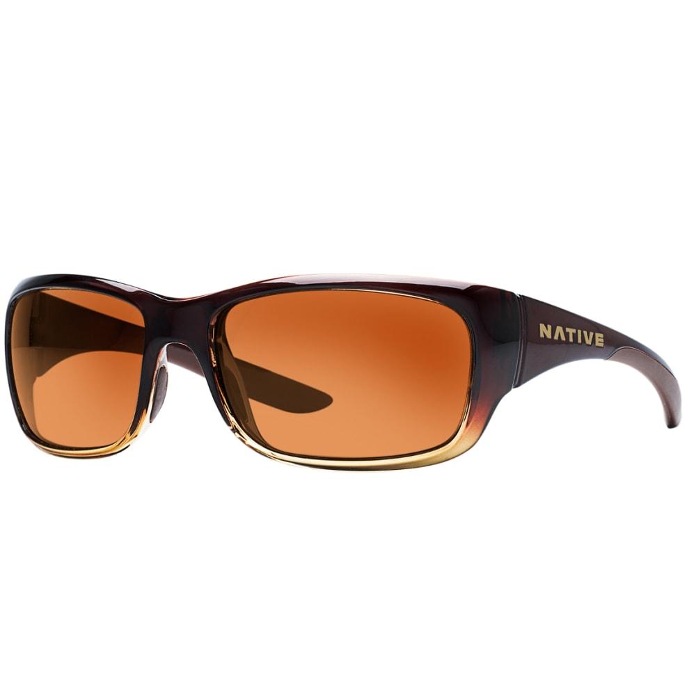 NATIVE EYEWEAR Kannah Sunglasses, Stout Fade, Brown lens - stout fade