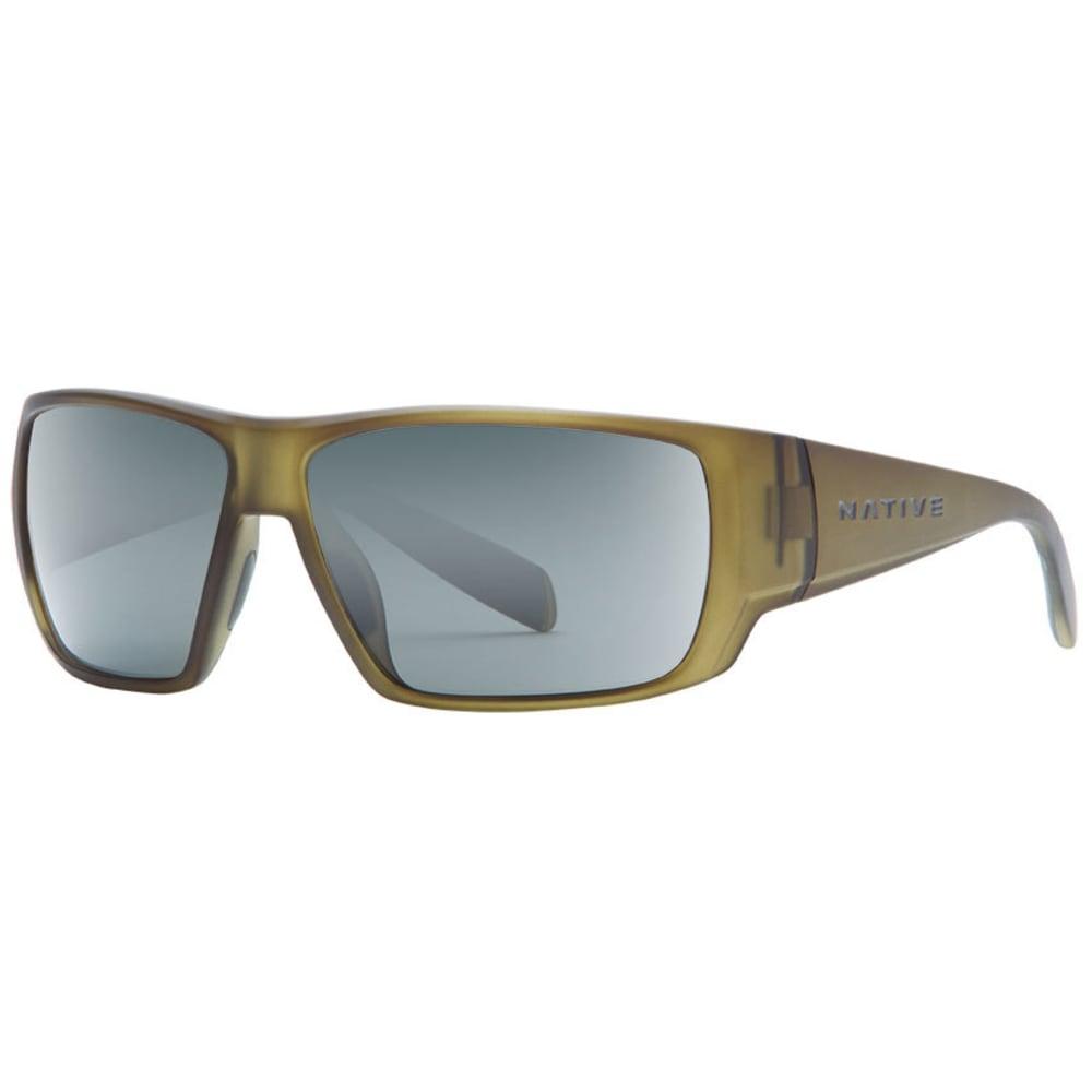 NATIVE EYEWEAR Sightcaster Sunglasses, Matte Moss/Gray - MATTE MOSS
