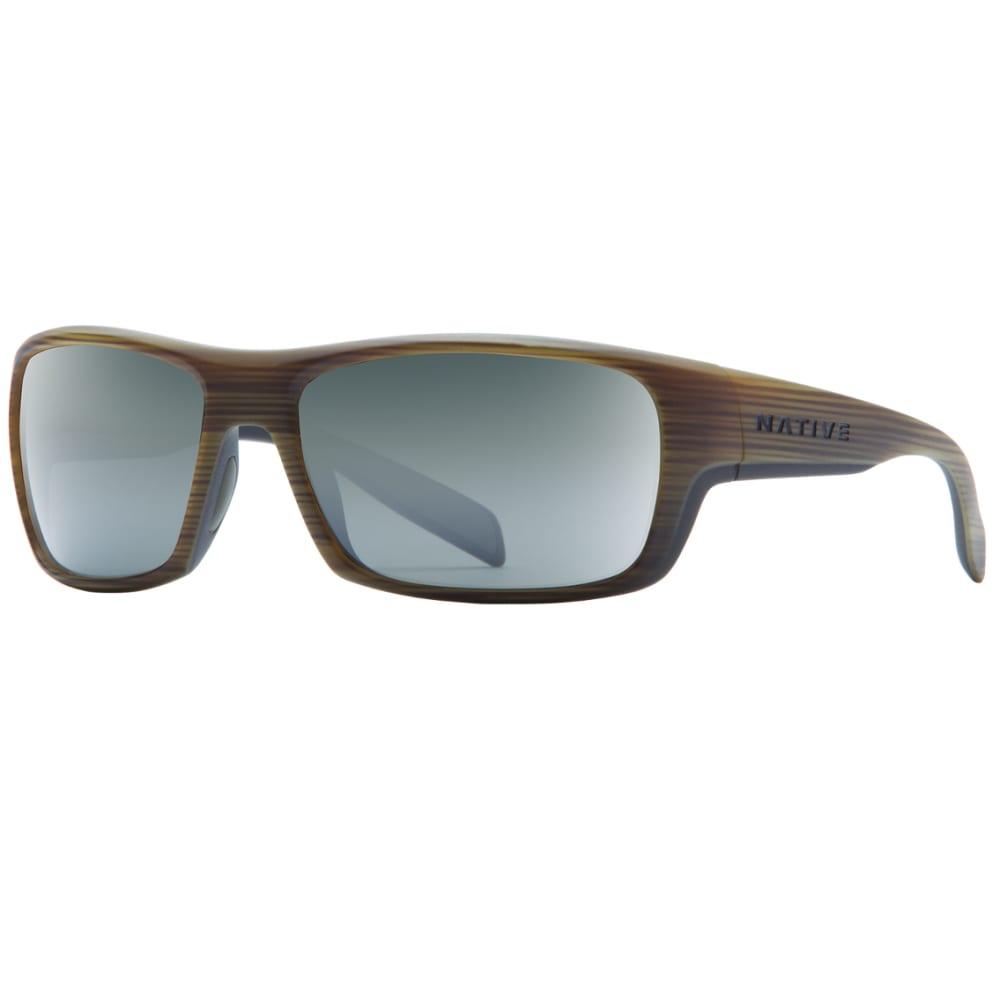 NATIVE EYEWEAR Eddyline Sunglasses, Wood, Silver Lens - WOOD/MATTE BLACK