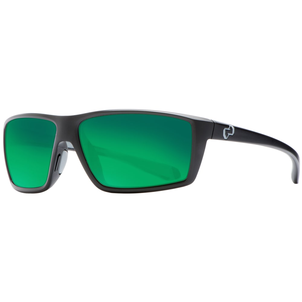 NATIVE EYEWEAR Sidecar Sunglasses, Matte Black/Green Reflex - MATTE BLACK