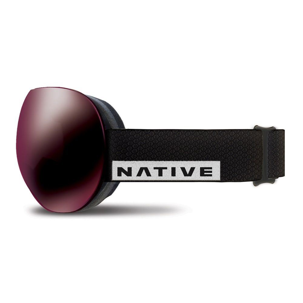 NATIVE EYEWEAR Backbowl Goggles, Black Rip/SnowTuned Silver - BLACK RIP