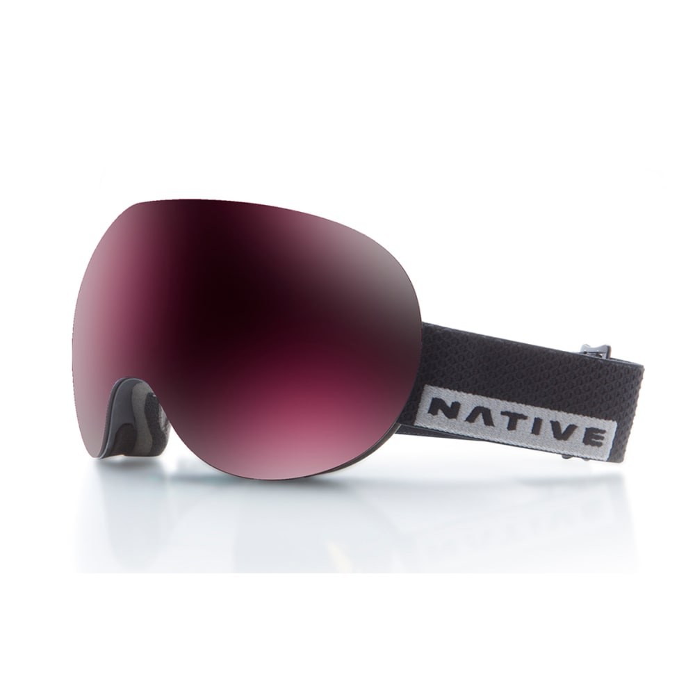 NATIVE EYEWEAR Backbowl Goggles, Black Rip/SnowTuned Silver ONE SIZE