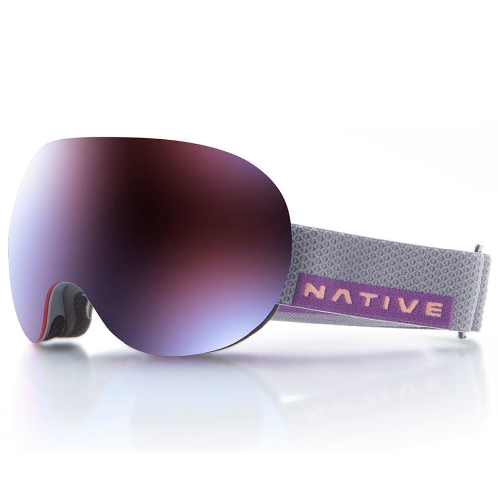 NATIVE EYEWEAR Backbowl Goggles, Dark Rip/Rose Blue - DARK RIP