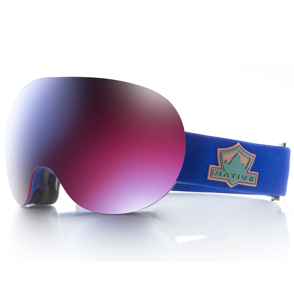 NATIVE EYEWEAR Backbowl Goggles, Ranger/Rose Blue ONE SIZE