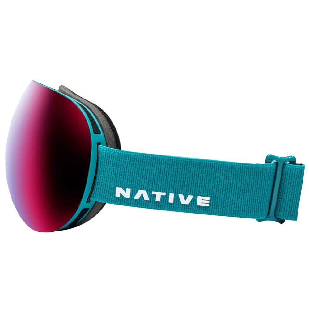 NATIVE EYEWEAR Backbowl Goggles, Tundra - SnowTuned Rose Blue - TUNDRA