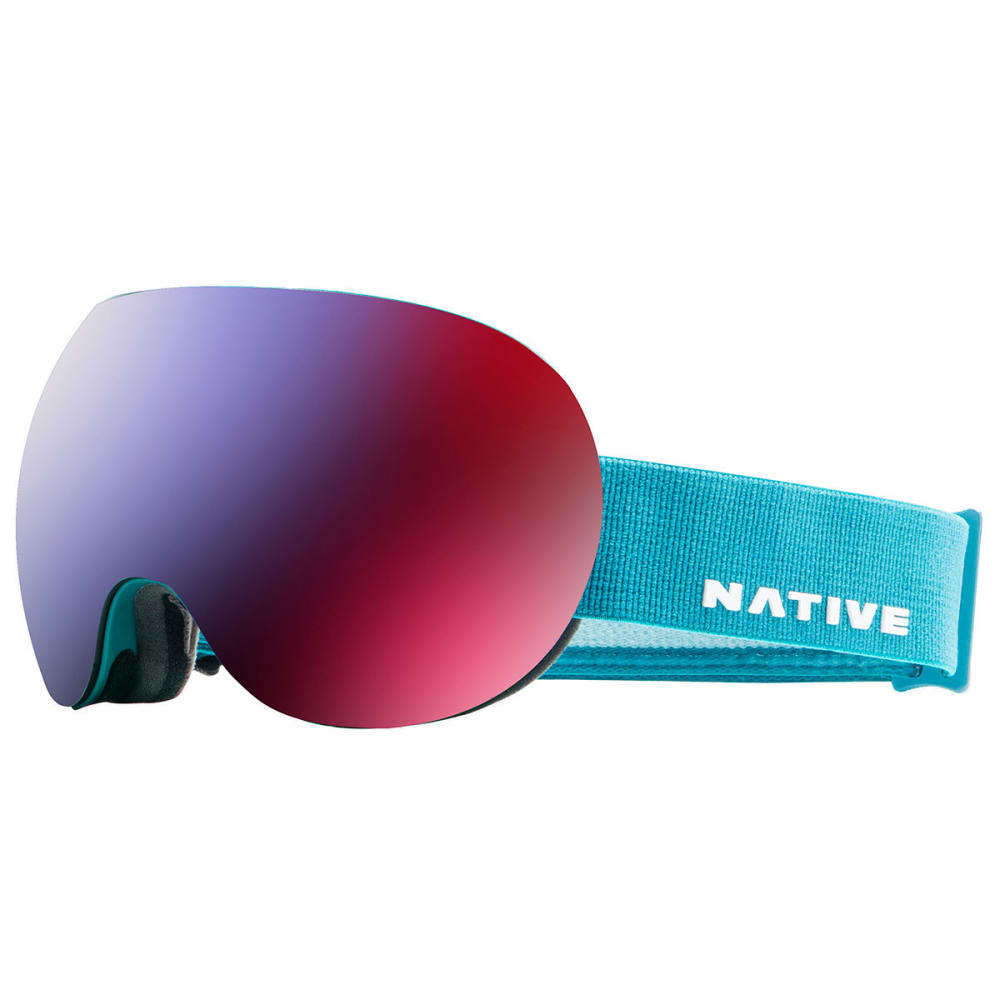 NATIVE EYEWEAR Backbowl Goggles, Tundra - SnowTuned Rose Blue - TUNDRA