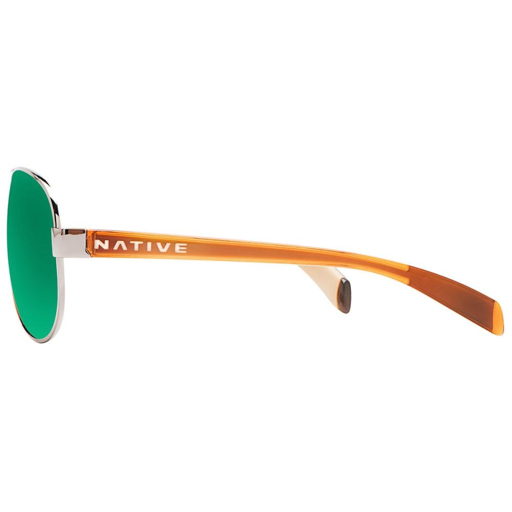 NATIVE EYEWEAR Patroller Sunglasses Chrome/Crystal Brown, Green Reflex - CHROME/CRYSTAL BROWN