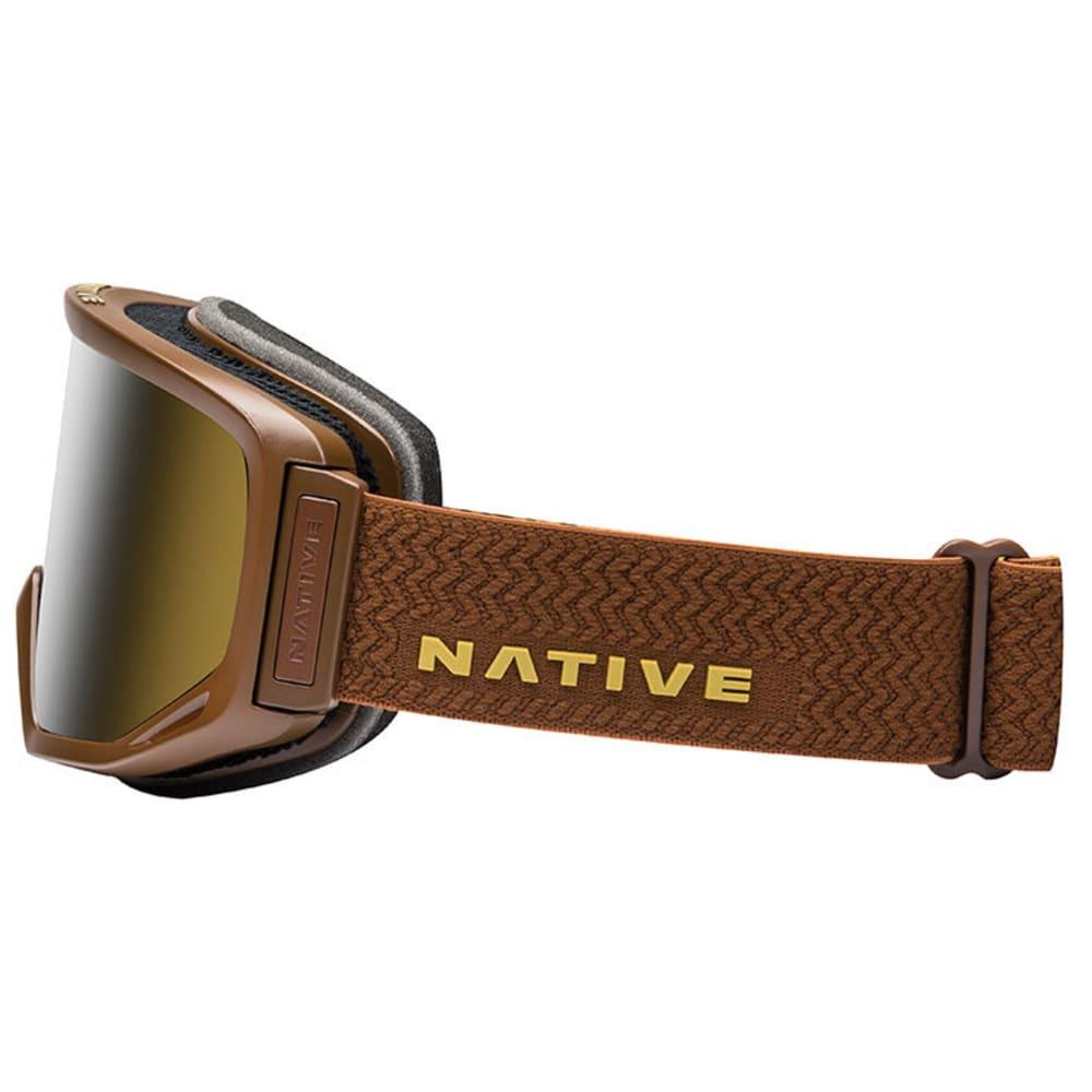 NATIVE EYEWEAR Coldfront Goggles, Buckskin - SnowTuned Silver - BUCKSKIN