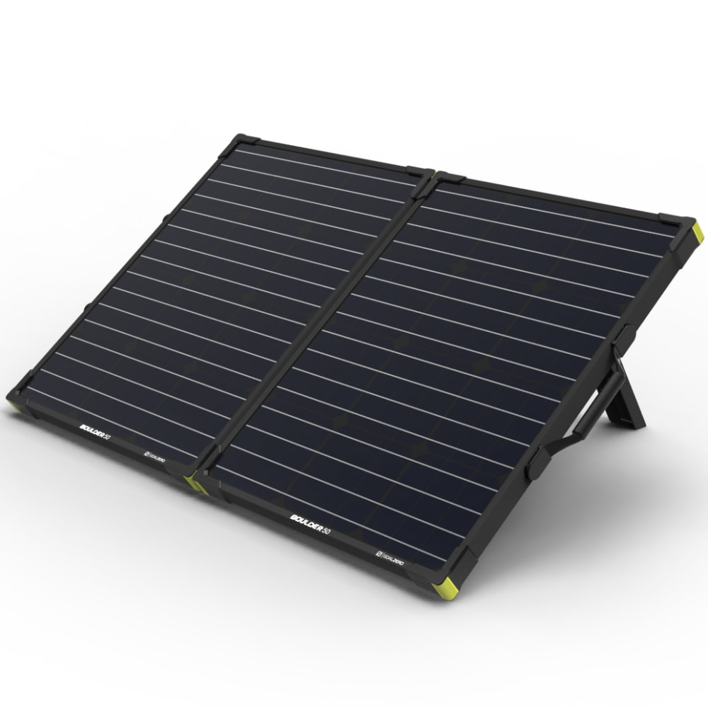 GOAL ZERO Yeti 1250 Power Station w/ Boulder 100 Briefcase Solar Panel Bundle - NO COLOR