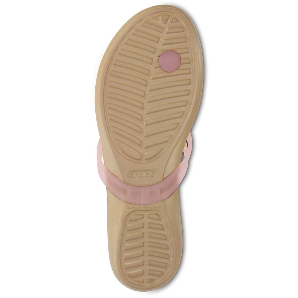 CROCS Women's Isabella Flip Flops, APC/Gold - GOLD