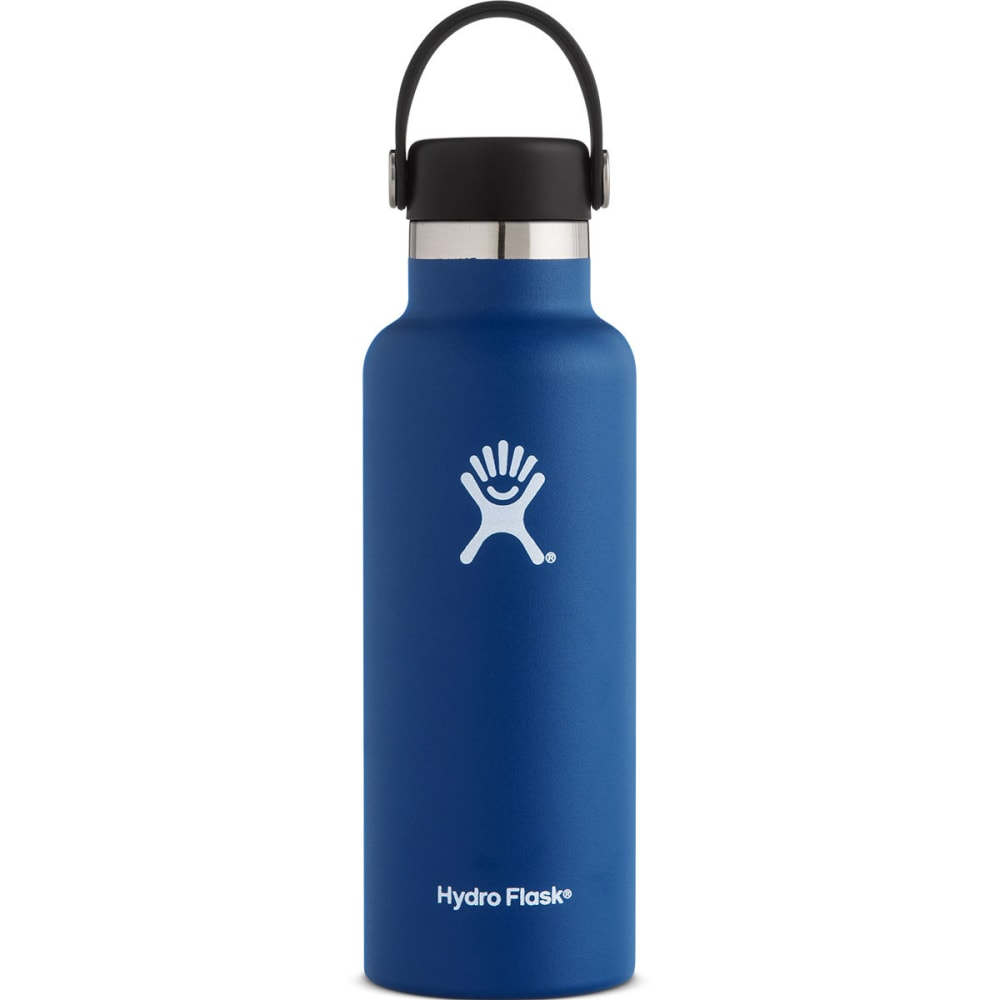 HYDRO FLASK 18 oz. Standard Mouth Water Bottle with Flex Cap - COBALT