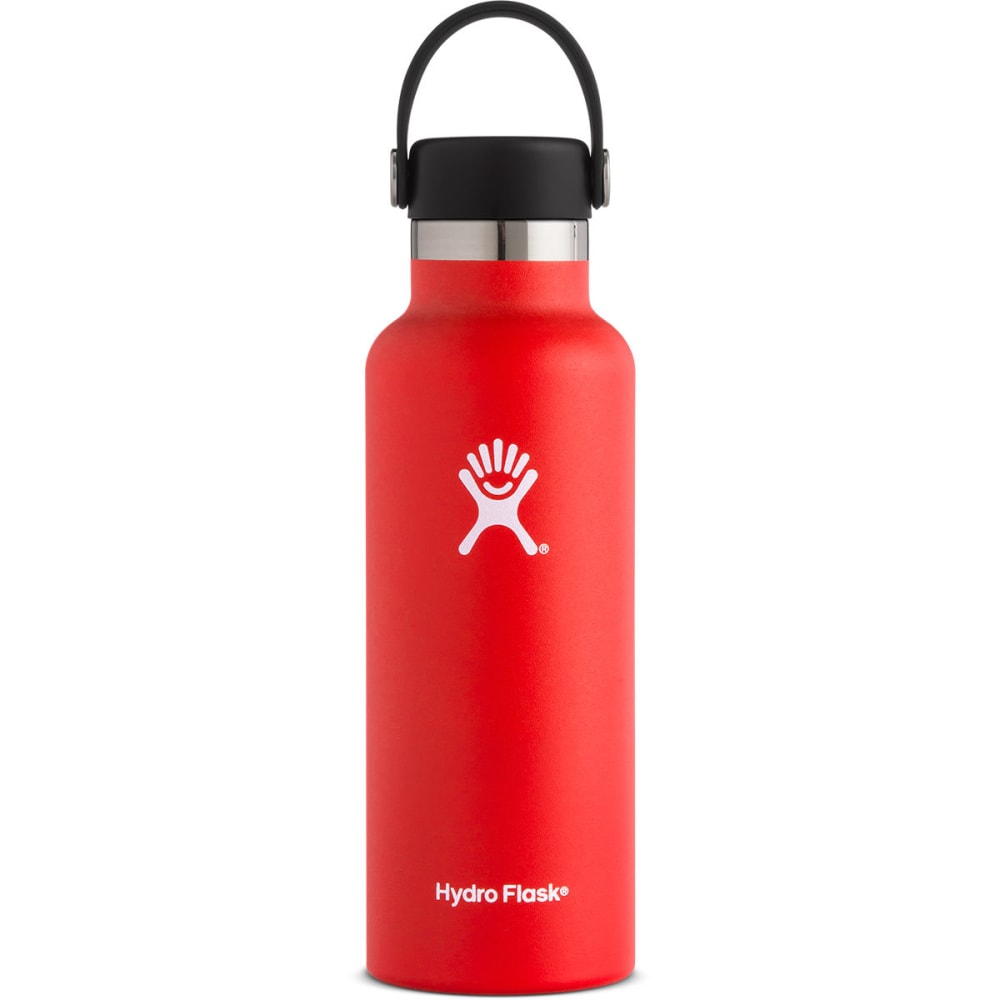 HYDRO FLASK 18 oz. Standard Mouth Water Bottle with Flex Cap - LAVA S18SX611
