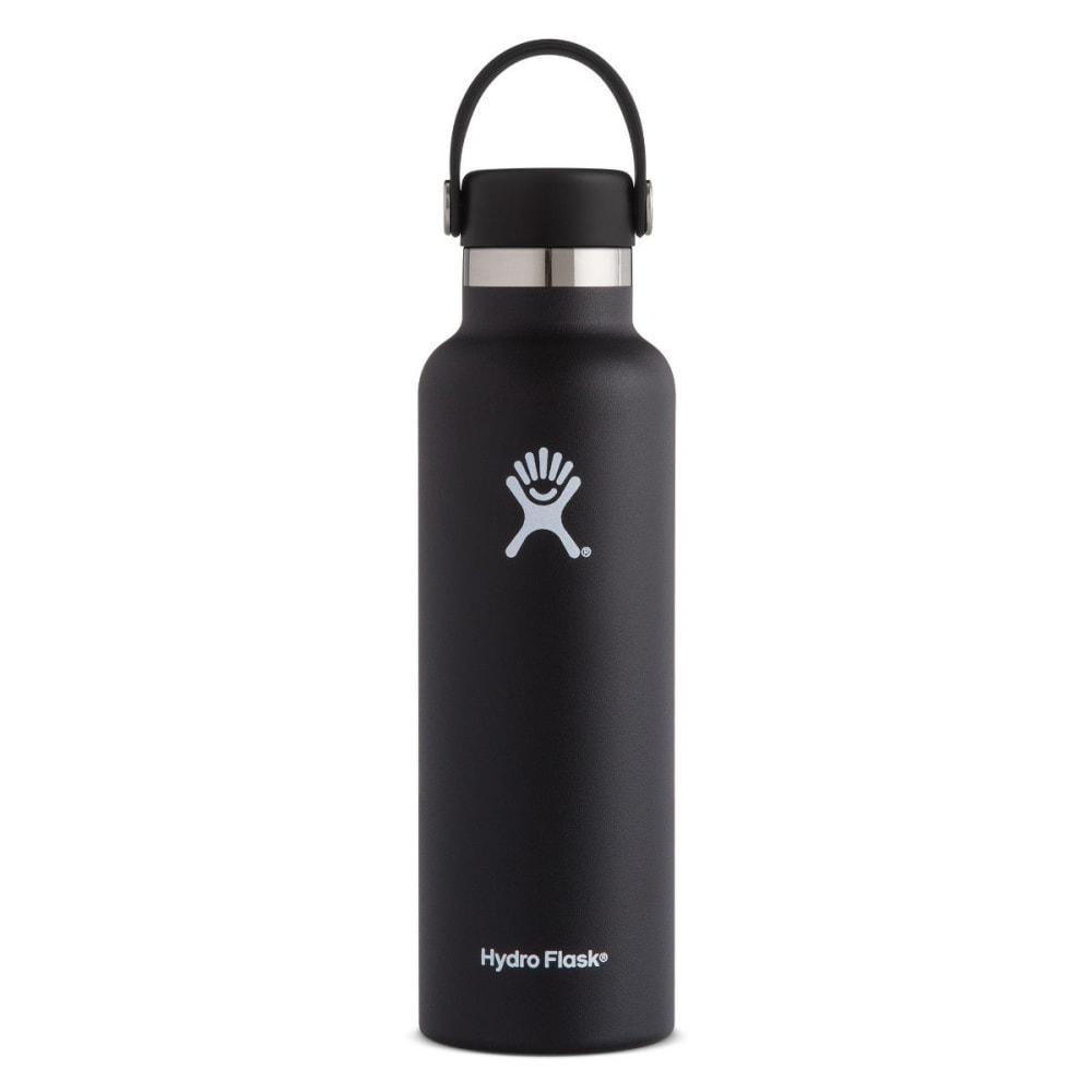 HYDRO FLASK 21 oz. Standard Mouth Water Bottle with Flex Cap - BLACK S21SX001