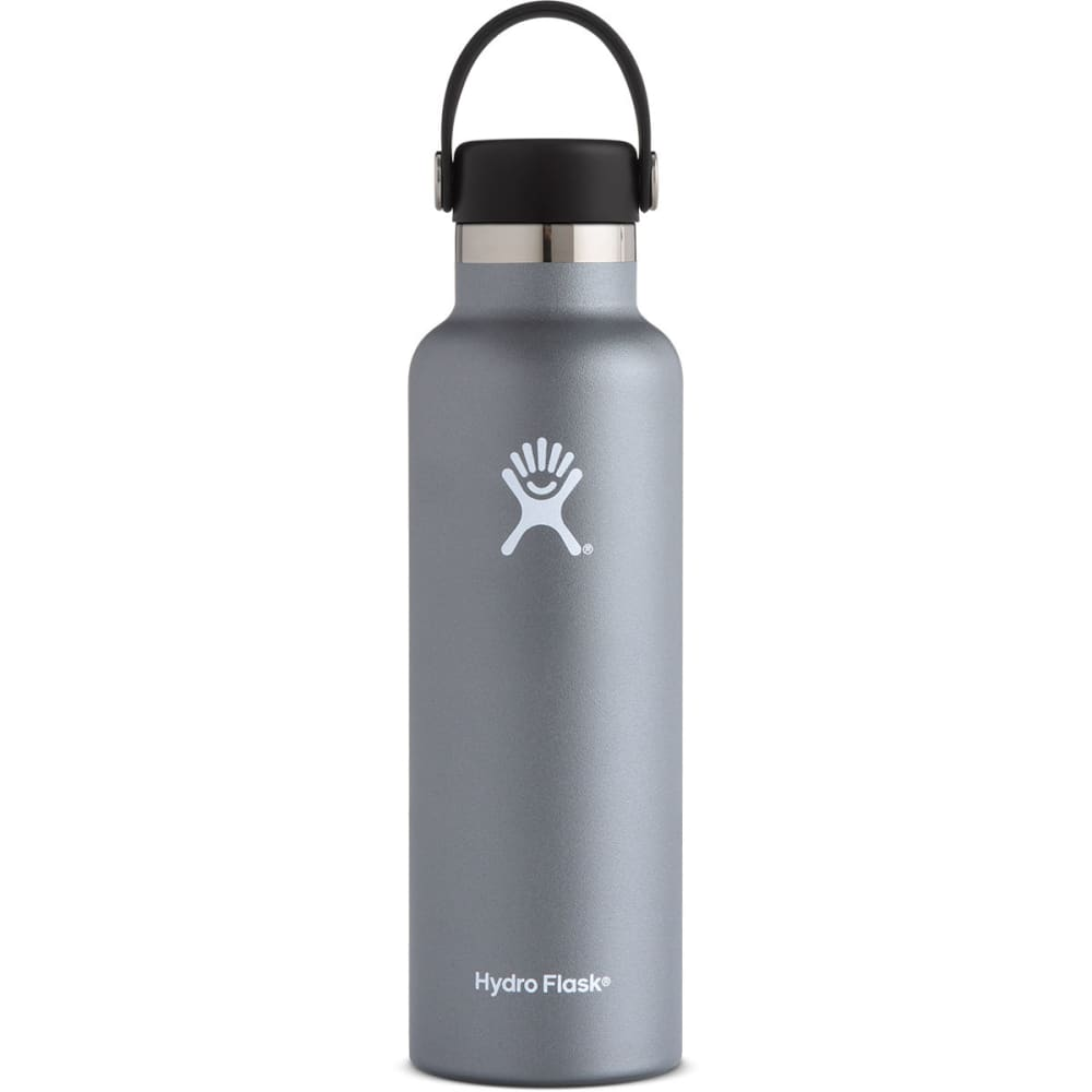 HYDRO FLASK 21 oz. Standard Mouth Water Bottle with Flex Cap - GRAPHITE S21SX050