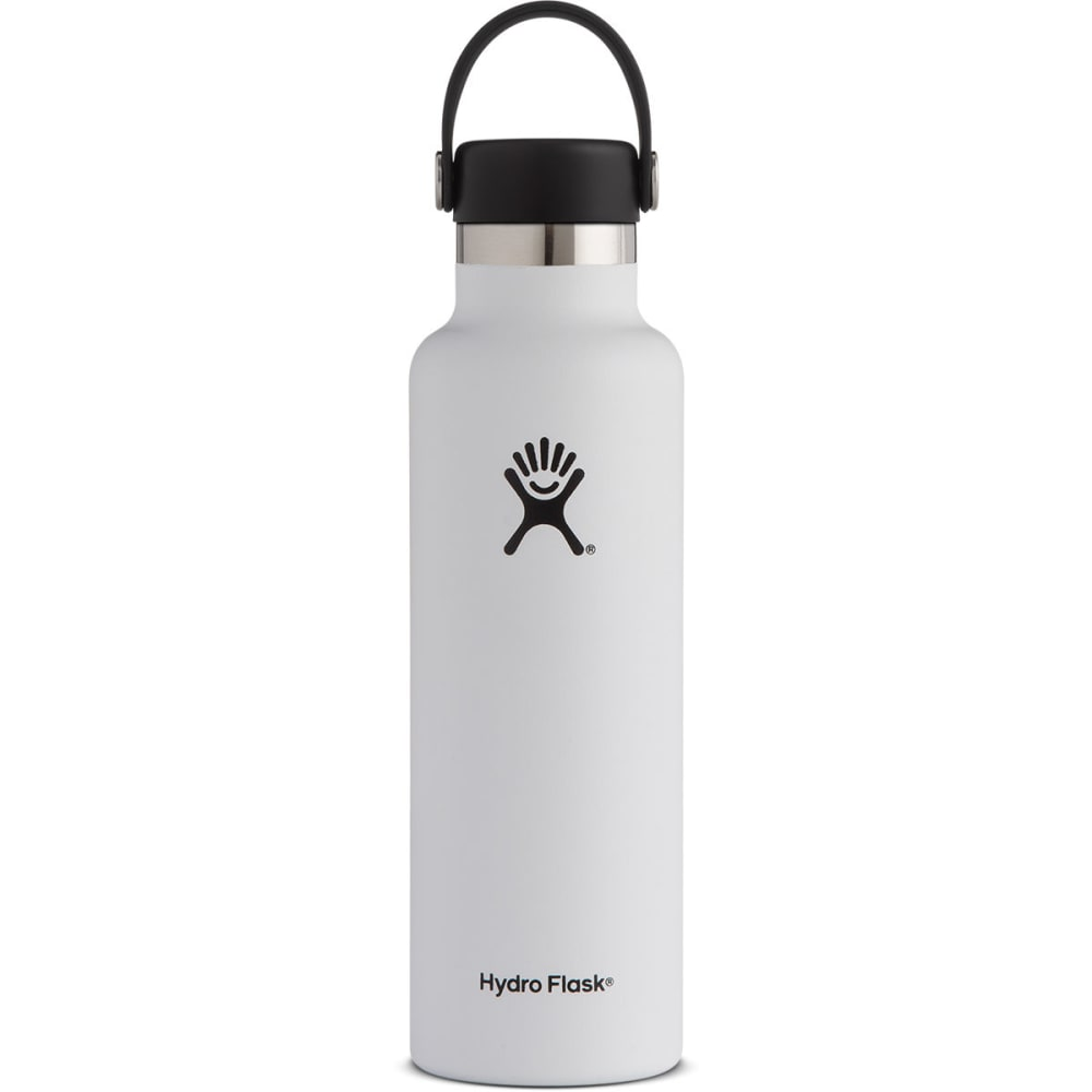 HYDRO FLASK 21 oz. Standard Mouth Water Bottle with Flex Cap - WHITE