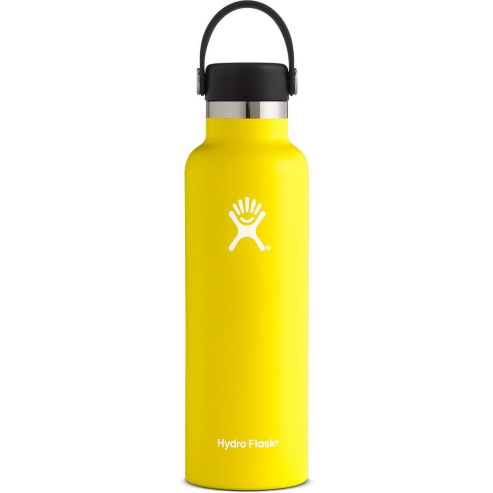 HYDRO FLASK 21 oz. Standard Mouth Water Bottle with Flex Cap - LEMON S21SX740