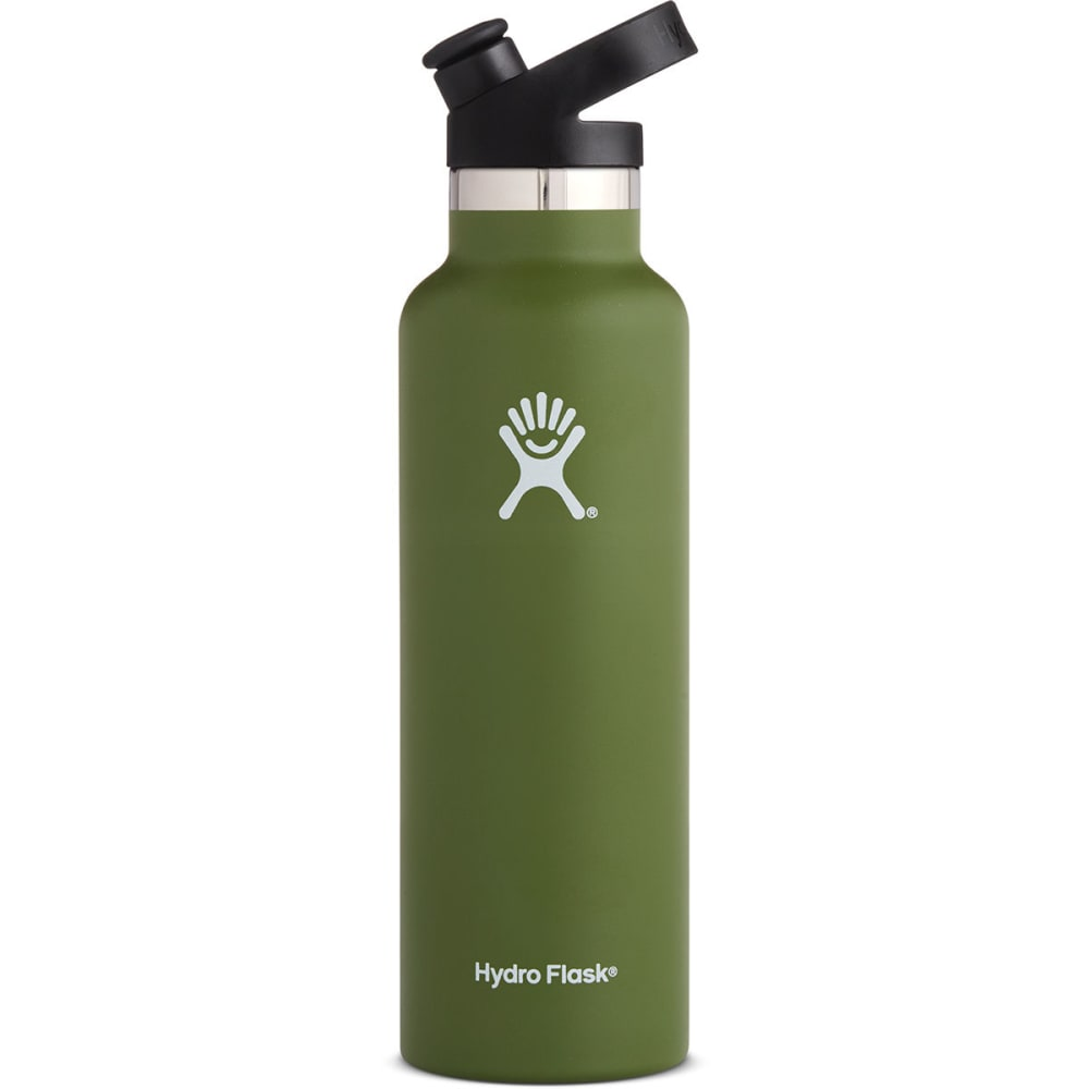 HYDRO FLASK 21 oz. Standard Mouth Water Bottle with Sport Cap - OLIVE S21ST306