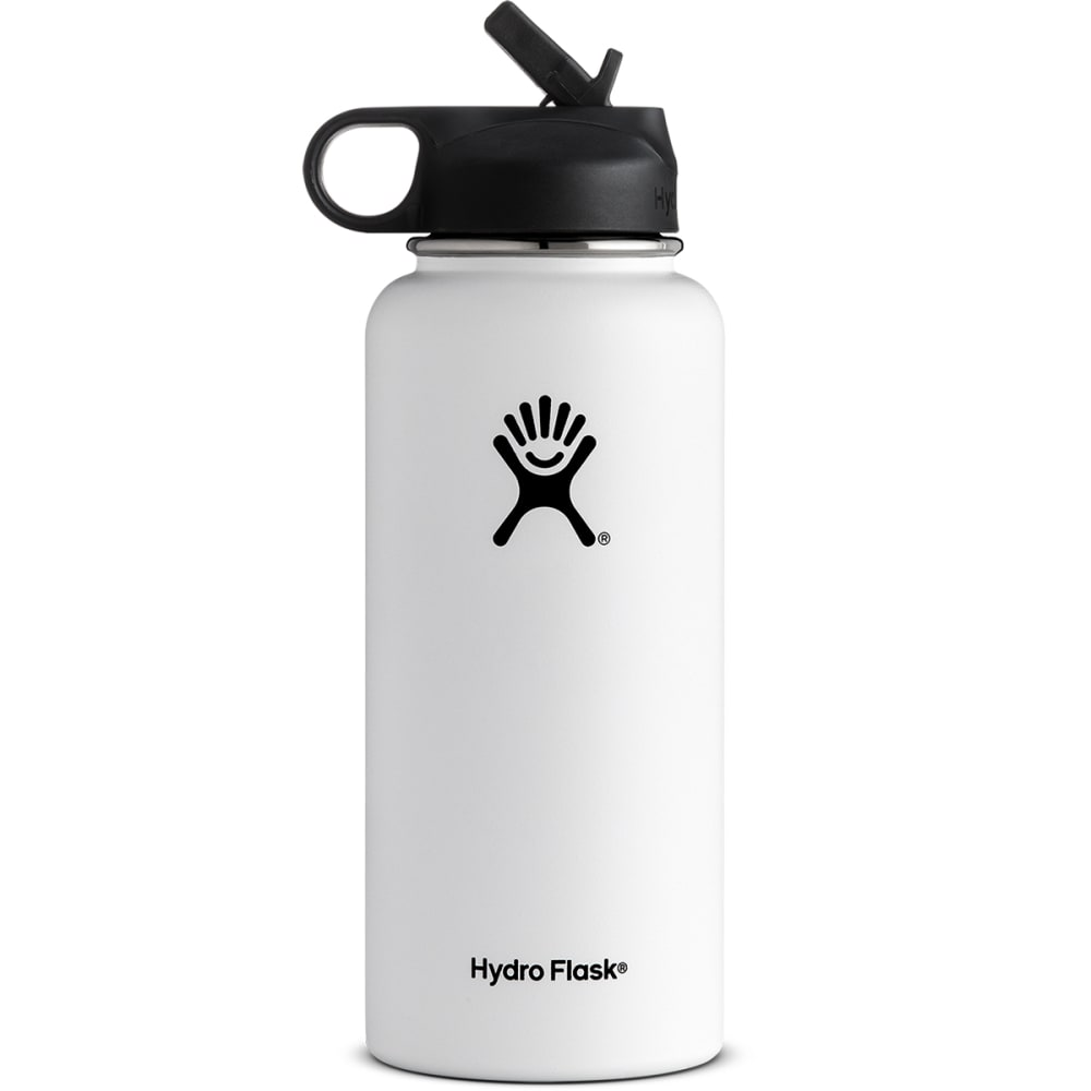 HYDRO FLASK 32 oz. Wide Mouth Water Bottle with Straw Lid - WHITE W32SW110