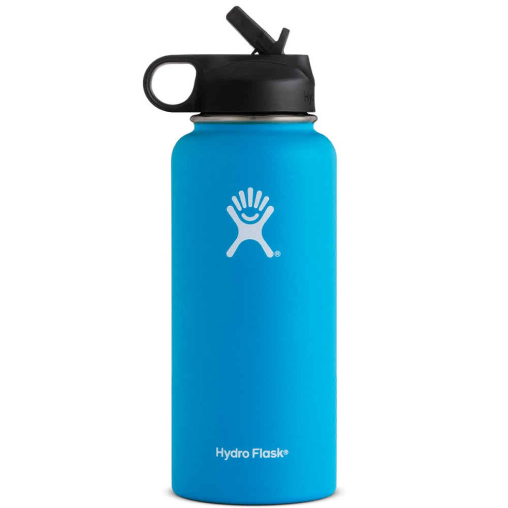 HYDRO FLASK 32 oz. Wide Mouth Water Bottle with Straw Lid - PACIFIC W32SW415