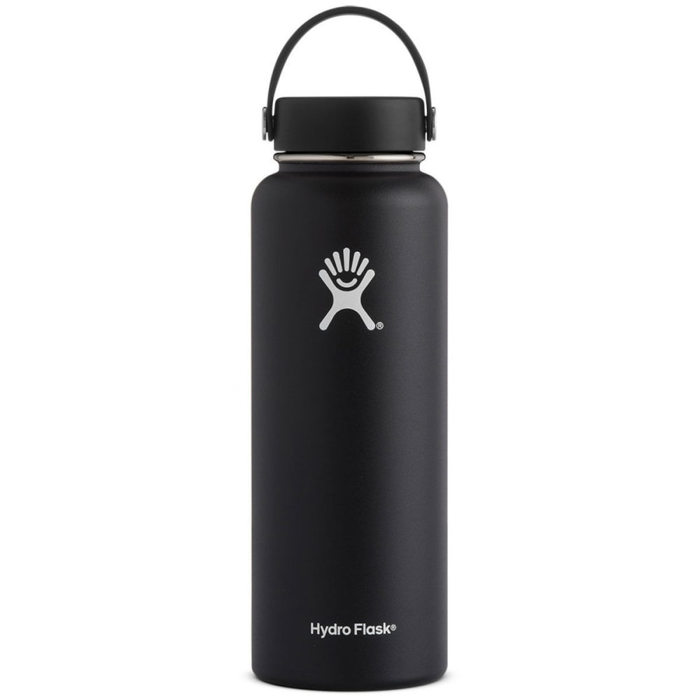 HYDRO FLASK 40 oz. Wide Mouth Water Bottle - BLACK W40TS001