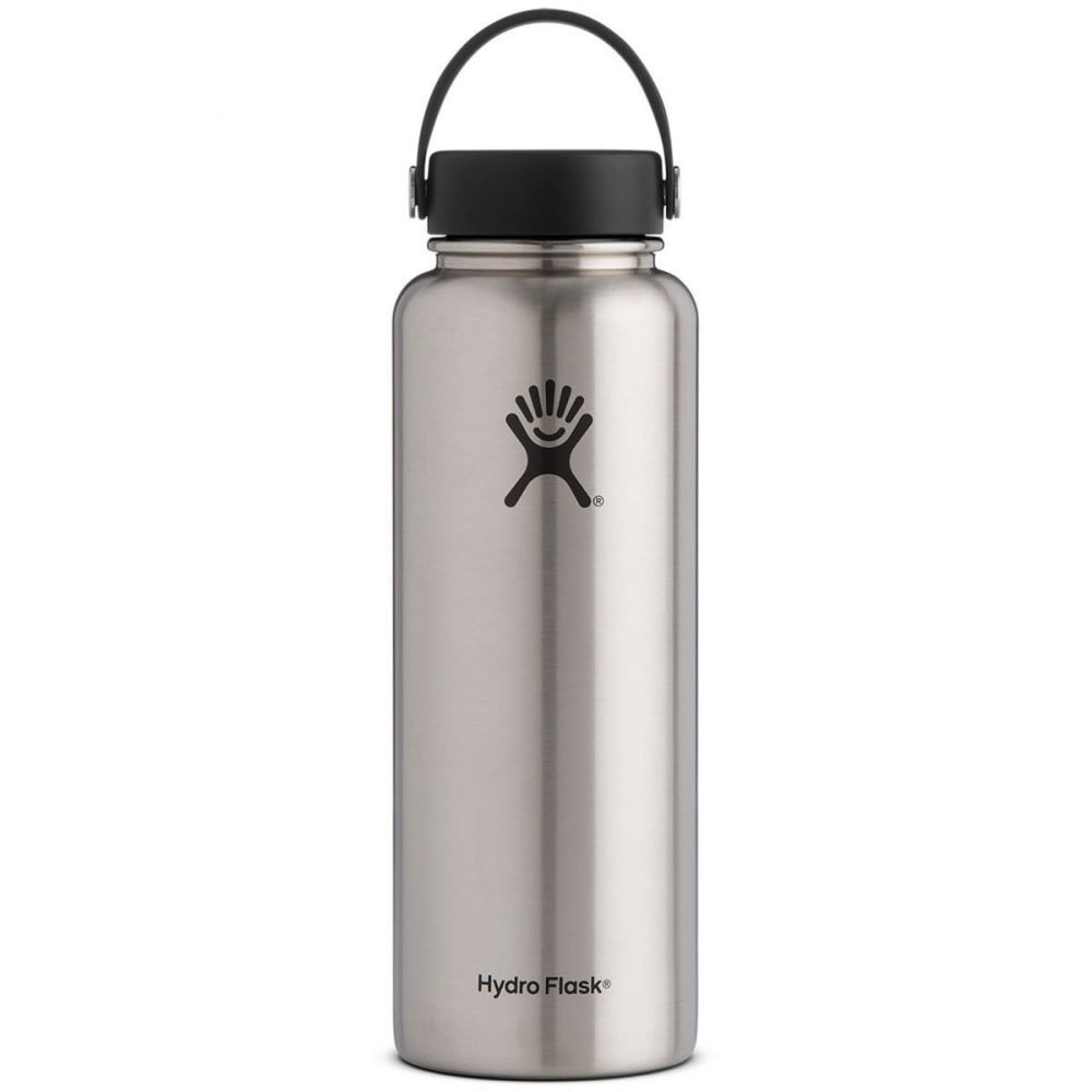 HYDRO FLASK 40 oz. Wide Mouth Water Bottle - STAINLESS W40TS075
