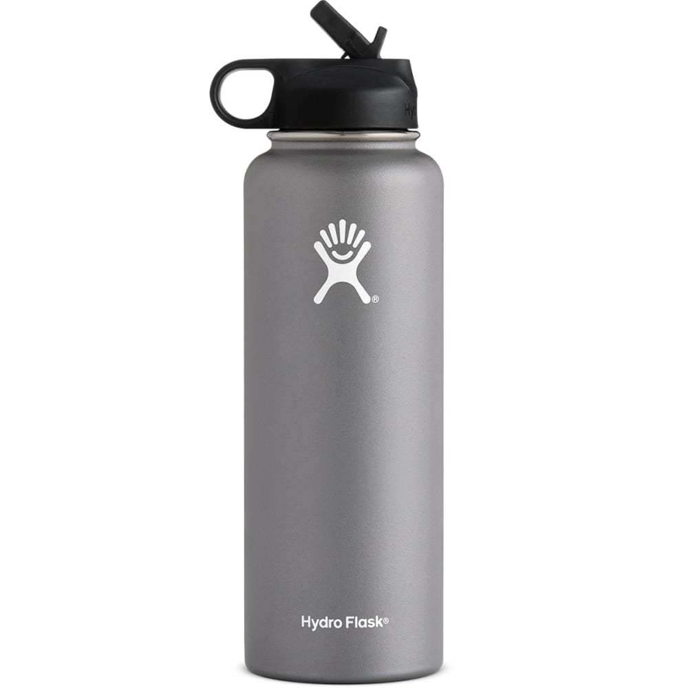 HYDRO FLASK 40 OZ Wide Mouth with Straw Lid - GRAPHITE W40SW050