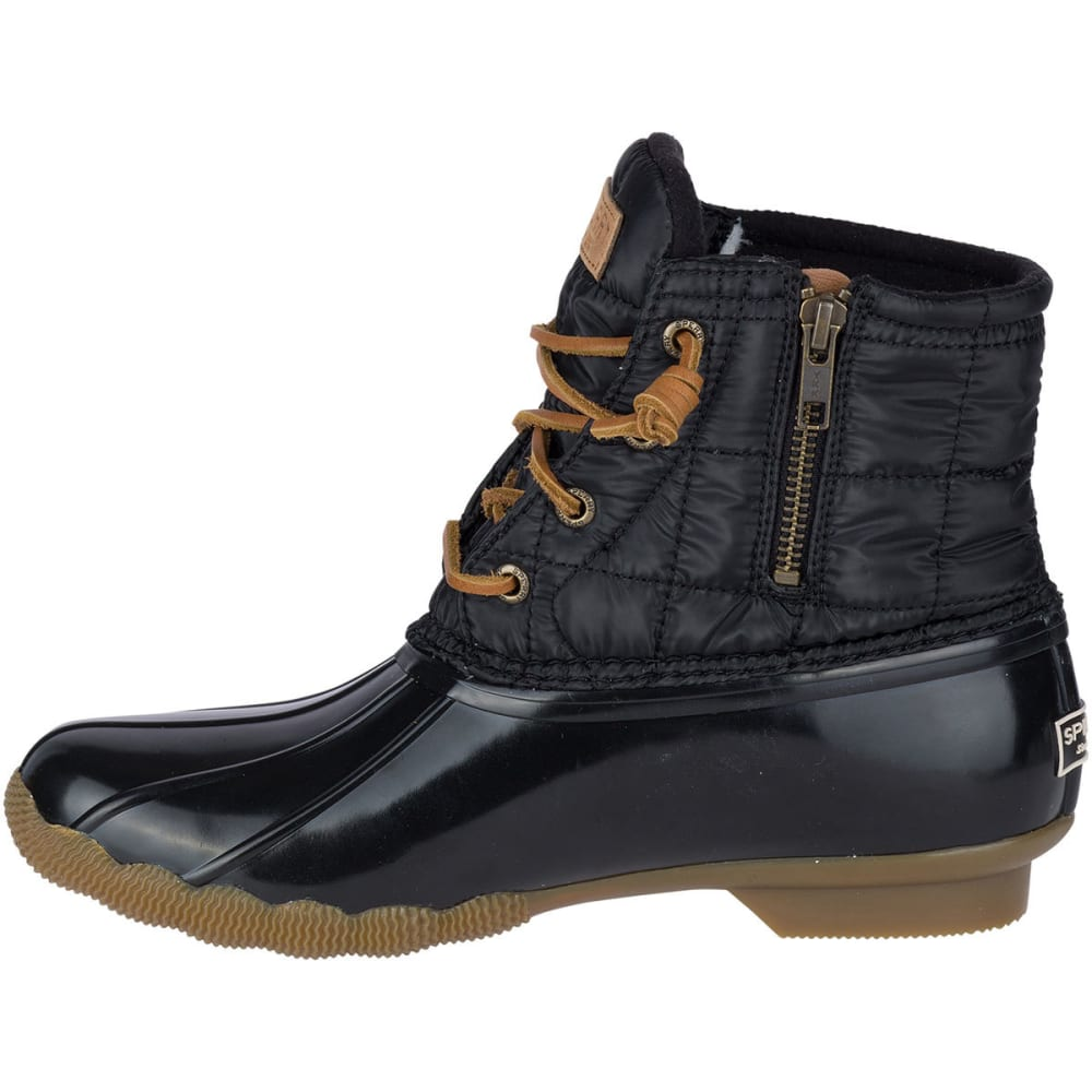 3f5c94403 SPERRY Women's Saltwater Shiny Quilted Duck Boots, Black - Eastern ...