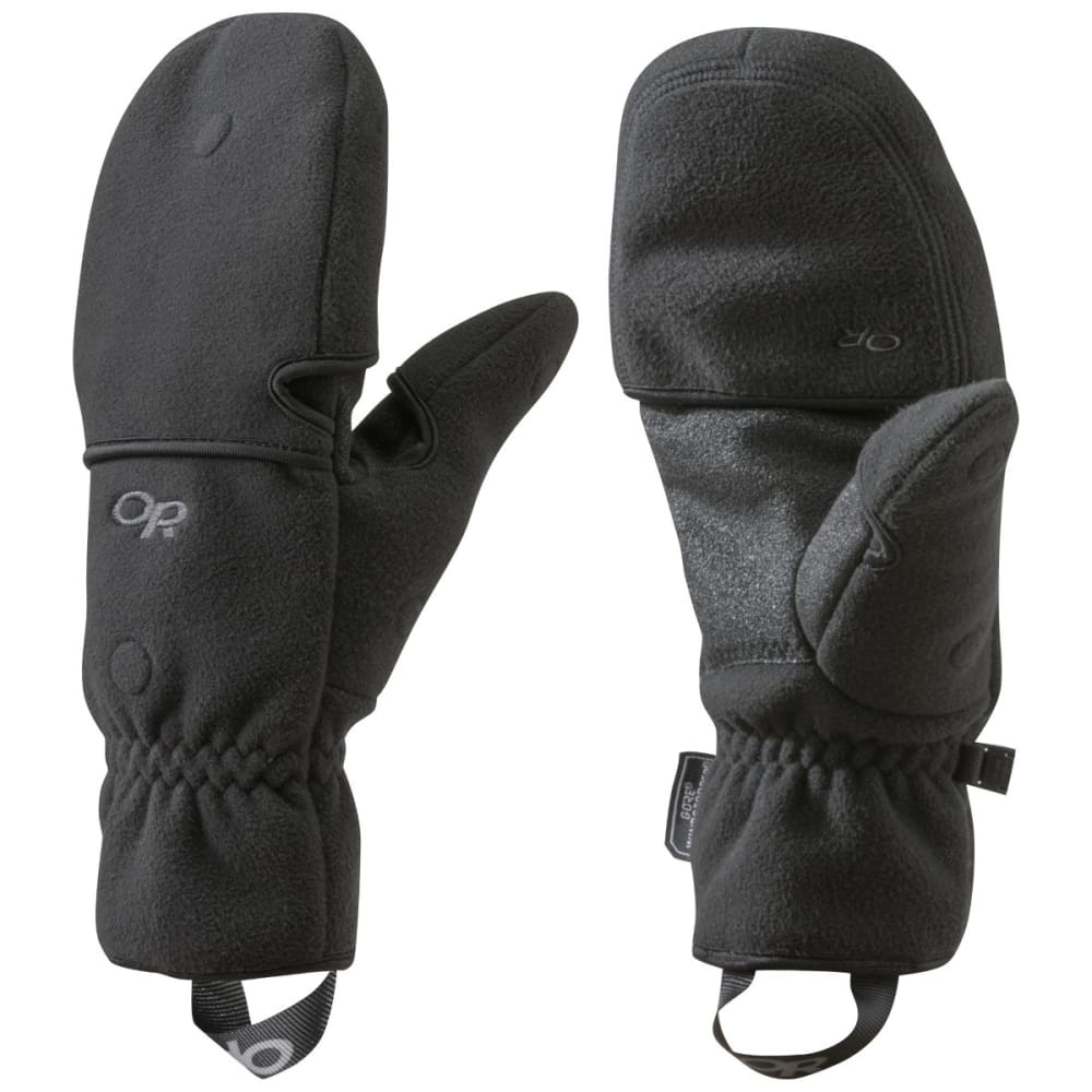 OUTDOOR RESEARCH Gripper Convertible Gloves, Black M