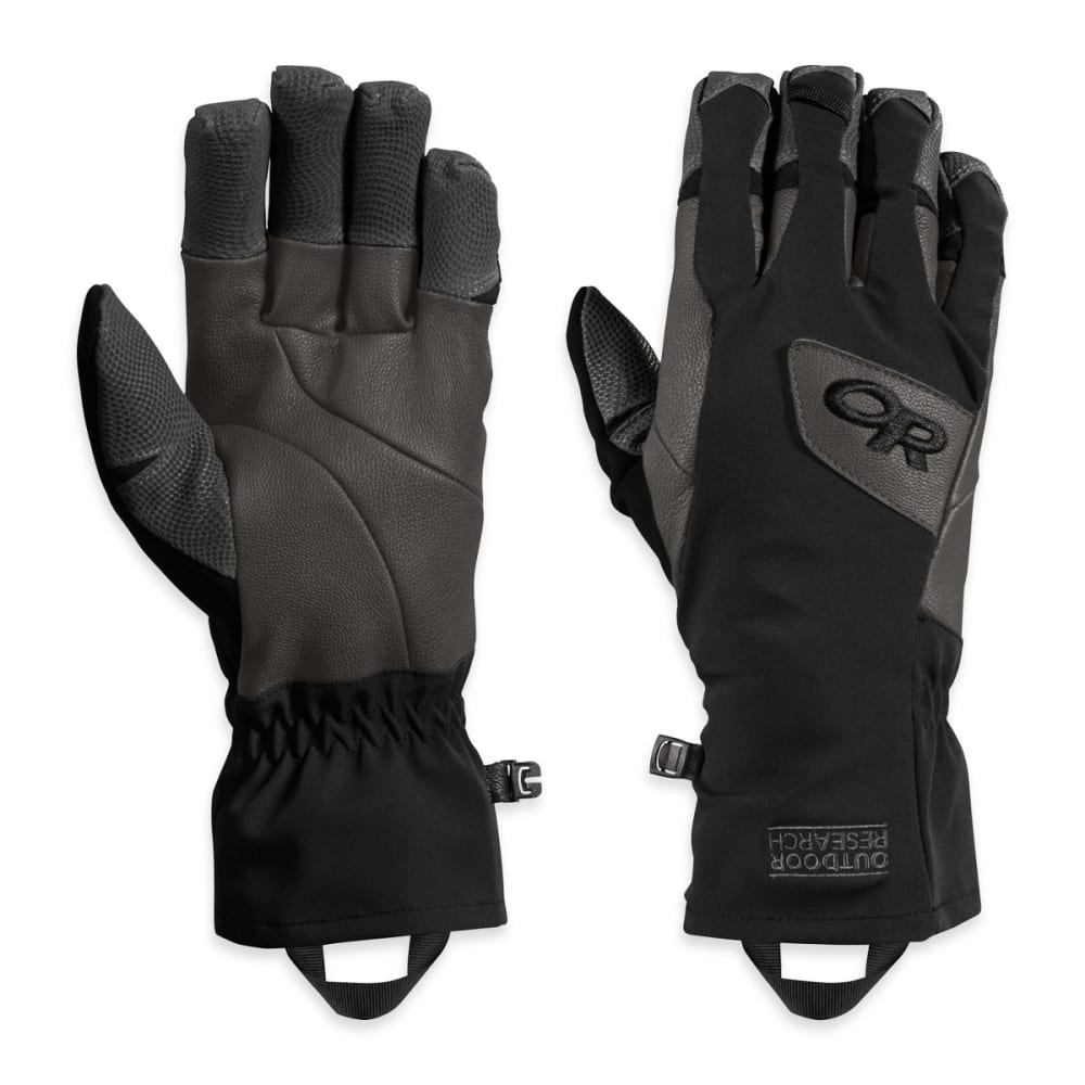 OUTDOOR RESEARCH Super Vert Gloves, Black/Charcoal - BLACK/CHARCOAL