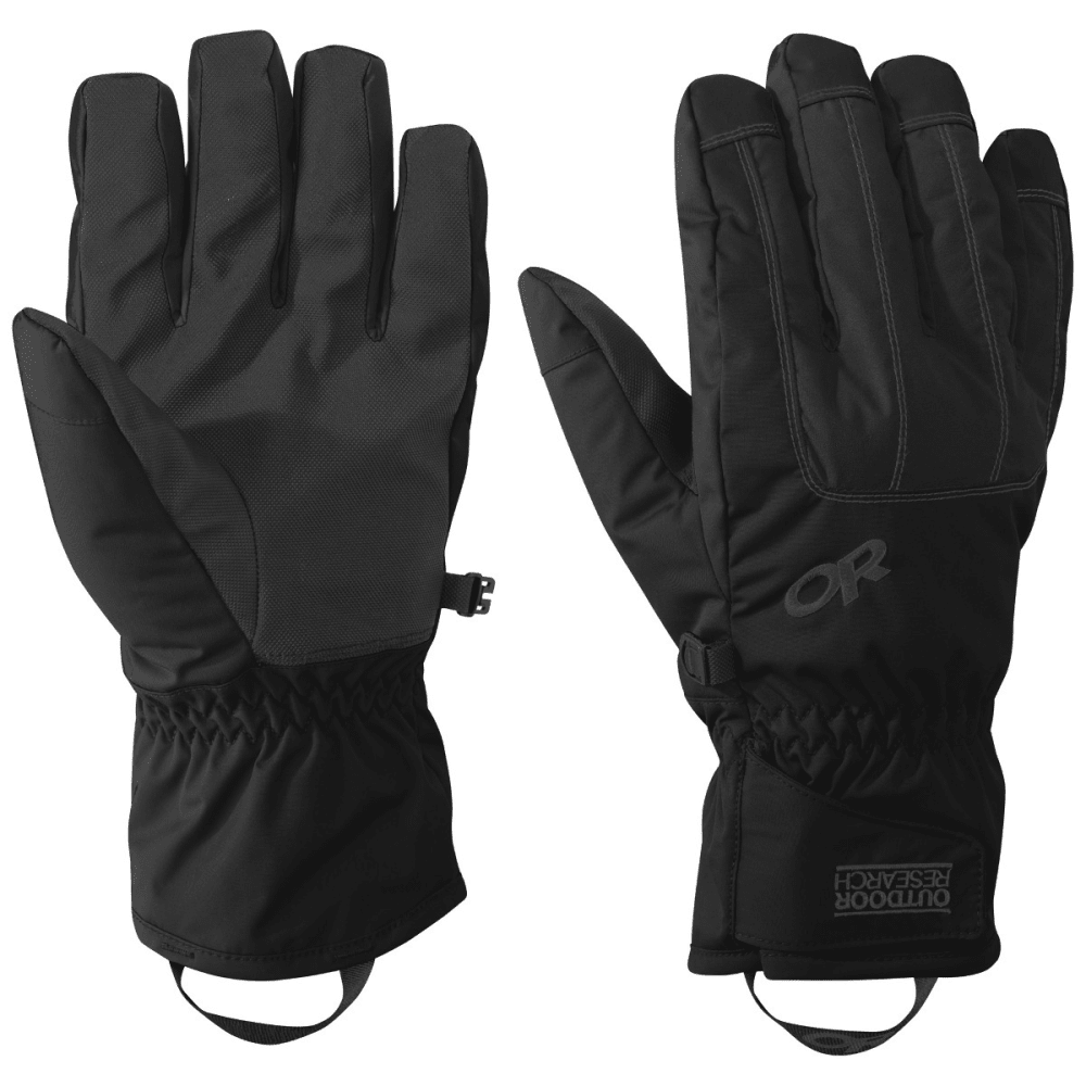 OUTDOOR RESEARCH Men's Riot Gloves - BLACK