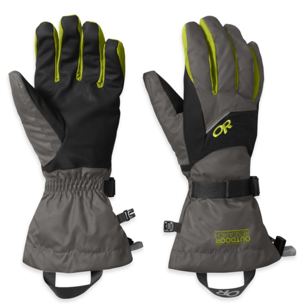 OUTDOOR RESEARCH Men's Adrenaline Gloves - CHARCOAL/BLK/LMNGRS