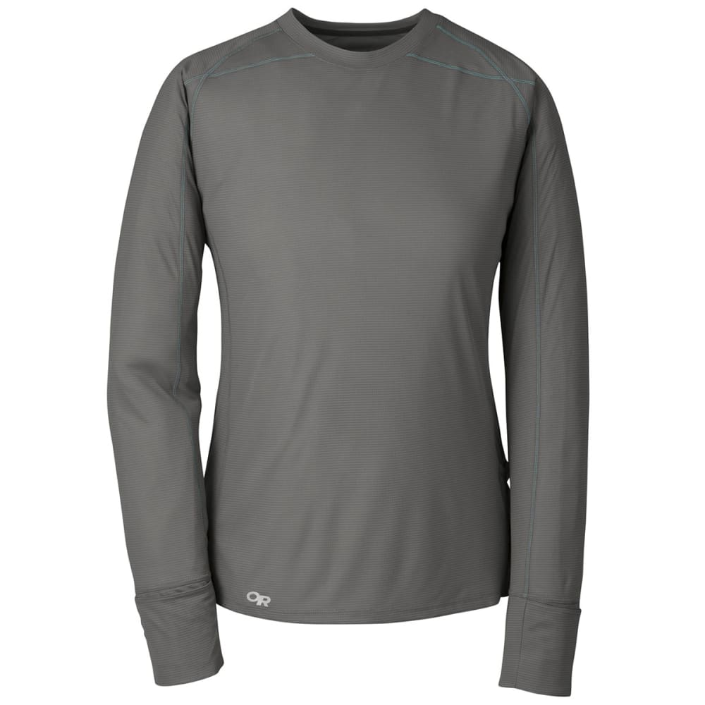 OUTDOOR RESEARCH Women's Echo Long-Sleeve Tee - PEWTER/TYPHOON