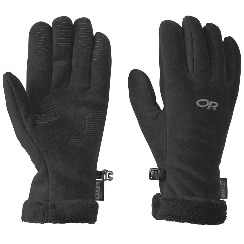 OUTDOOR RESEARCH Women's Fuzzy Sensor Gloves - BLACK