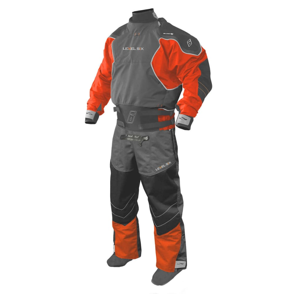 LEVEL SIX Men's Emperor Drysuit - BLAZE RED