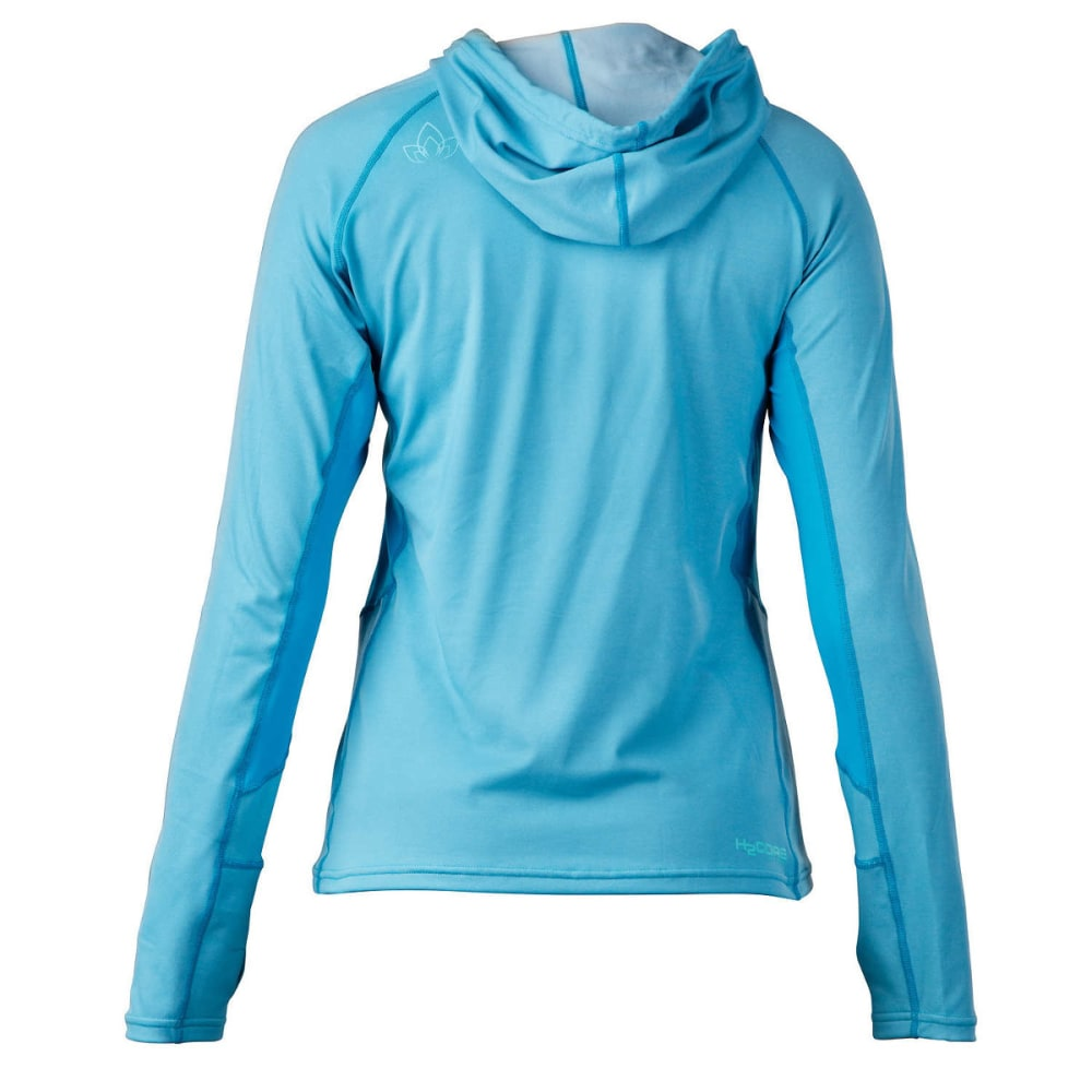 NRS Women's H2Core Lightweight Hoodie - AZURE BLUE HEATHER