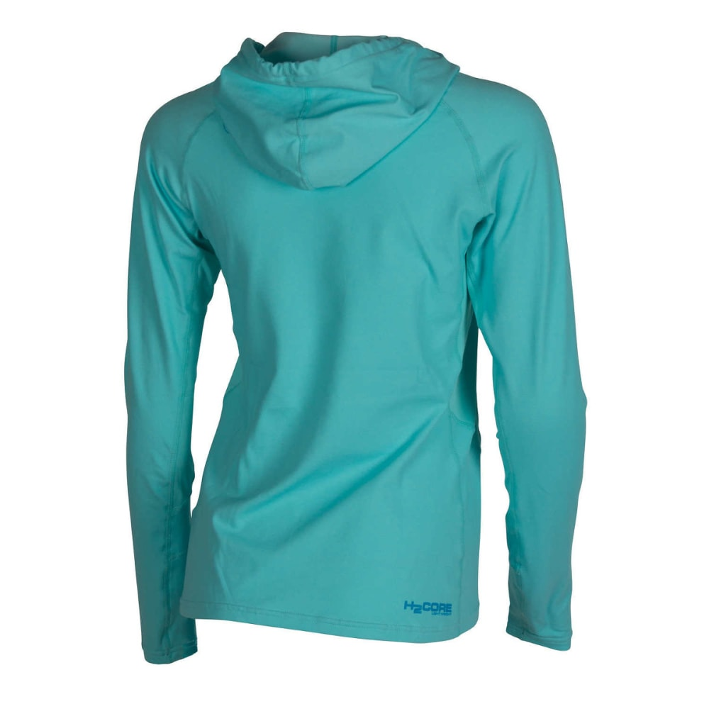 NRS Women's H2Core Lightweight Hoodie - ROBIN'S EGG HEATHER