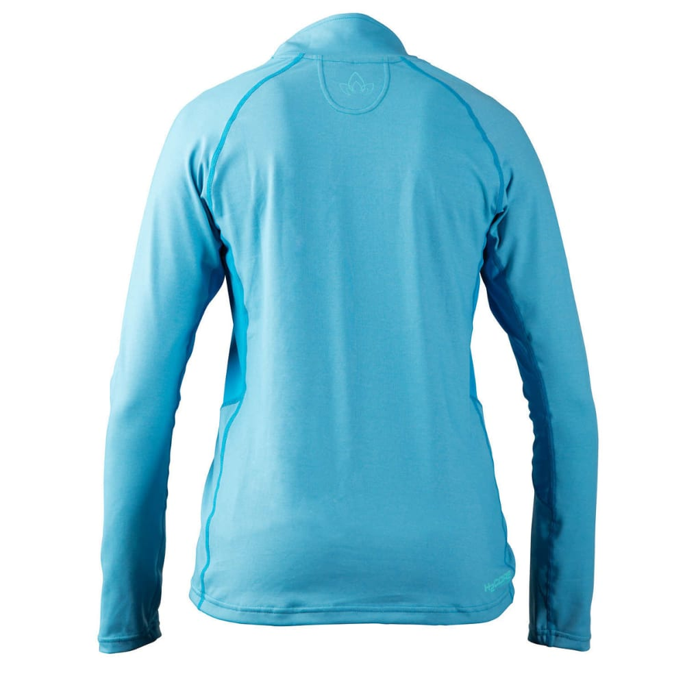 NRS Women's H2Core Lightweight Zip-Neck Shirt - AZURE BLUE HEATHER