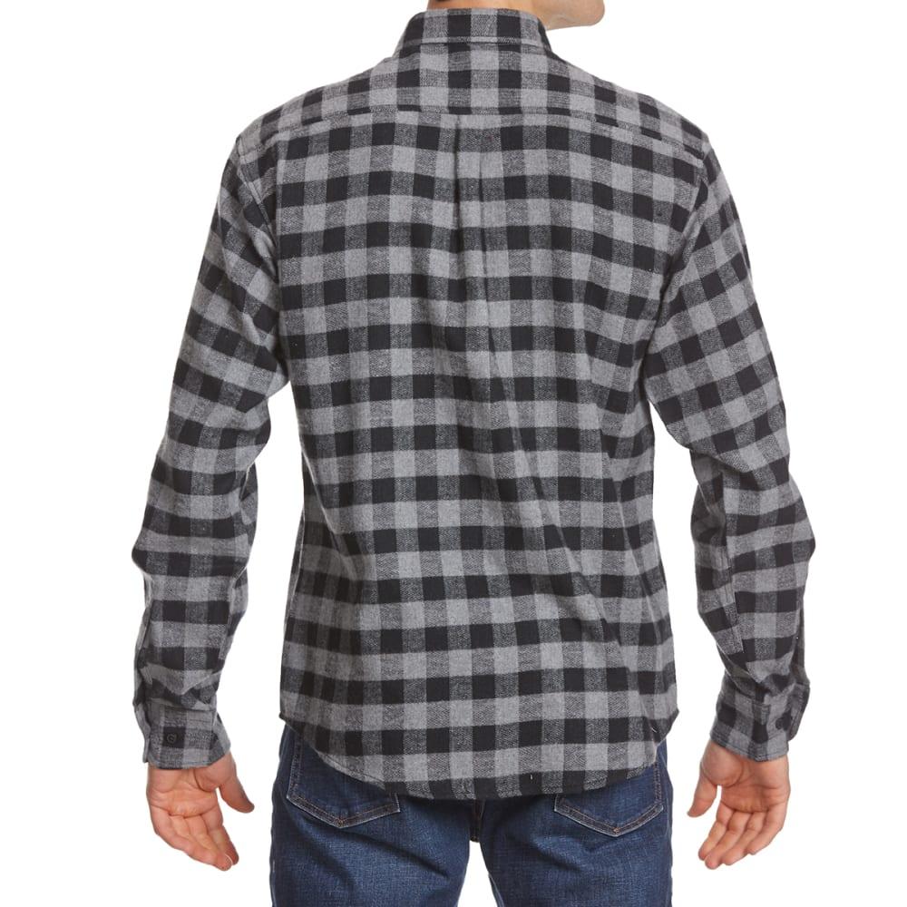 NORTH HUDSON Men's Flannel Long-Sleeve Shirt - 609-BLK/GRY