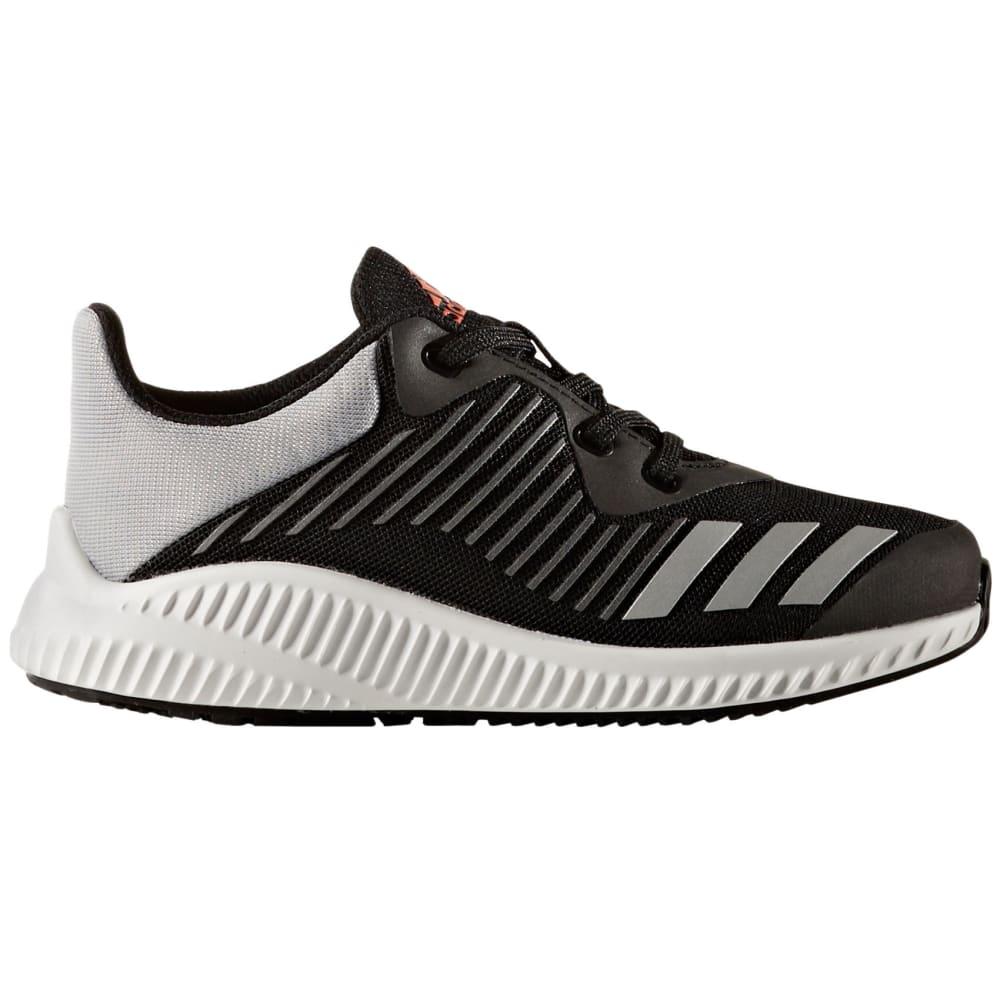 ADIDAS Boys' FortaRun K Running Shoes, Black/Silver, Wide - BLACK