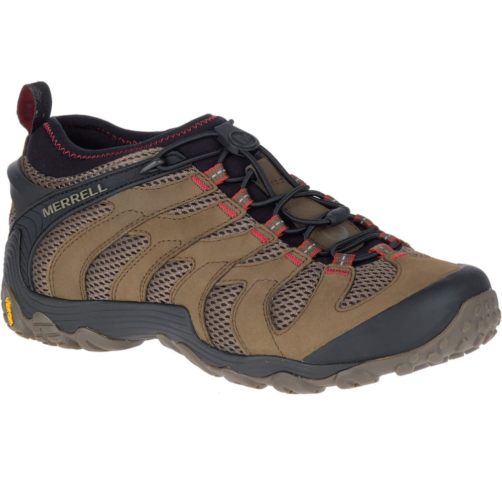 MERRELL Men's Chameleon 7 Stretch Low Hiking Shoes, Boulder - BOULDER