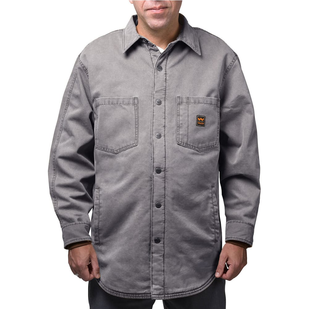 WALLS Men's Vintage Duck Shirt Jacket - WGA9 WASHED GRANITE