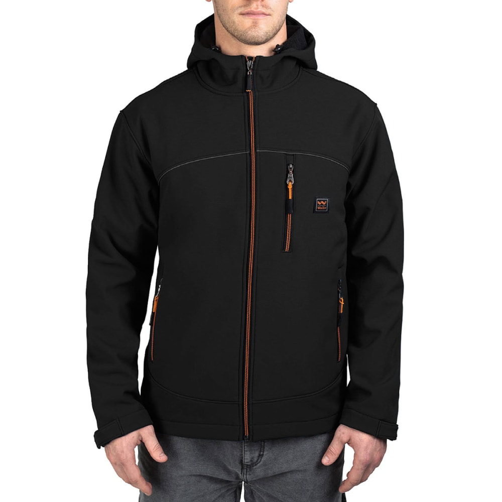 WALLS Men's Storm Protector Softshell Hooded Jacket - MK9 MIDNIGHT BLACK