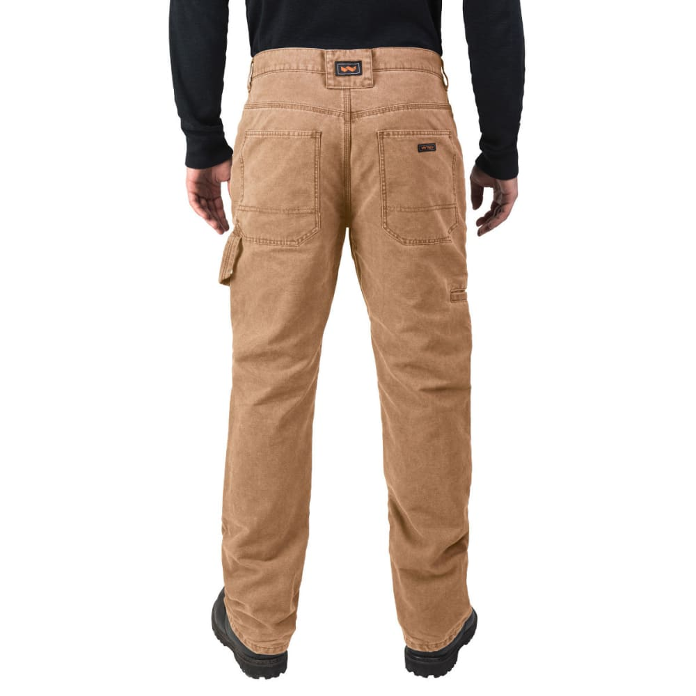 WALLS Men's Lined Duck Work Pants - WPC9 WASHED PECAN