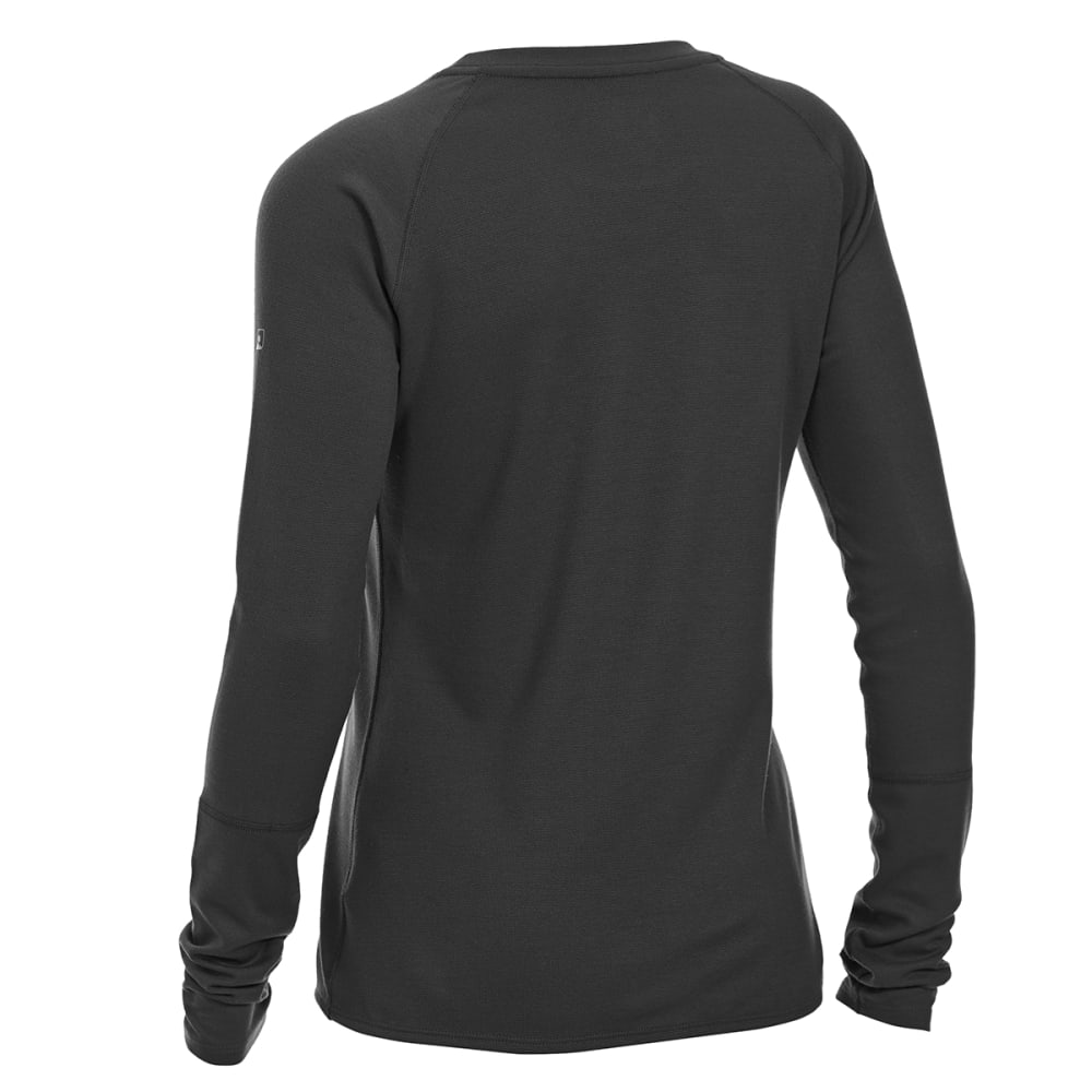EMS® Women's Techwick® Midweight Long-Sleeve Crew Base Layer - BLACK