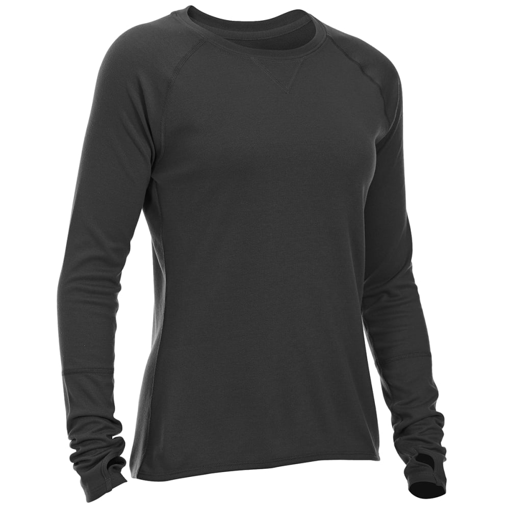 EMS® Women's Techwick® Midweight Long-Sleeve Crew Base Layer - BLACK